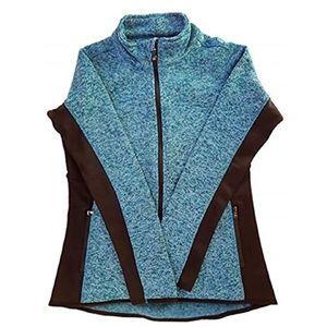 Heather Teal Fleece Jacket